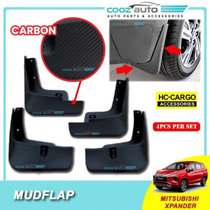 Mitsubishi XPander 2020 Front Rear Soft Rubber Mudflap Mud Blocker Carbon