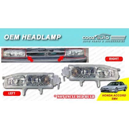 Honda Accord SM4 1990 - 1994 Front HeadLamp Head Lamp Light (No Bulb)