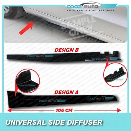 Universal Car Side Skirt Canard Diffuser kit 106cm Design A Design B (2pcs)