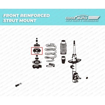 HONDA FIT / JAZZ 2001 - 2019 CRZ ZF1/2 CITY GM6 2014-2019 HR-V 2nd 2014-2019 HARDRACE FRONT REINFORCED STRUT MOUNT