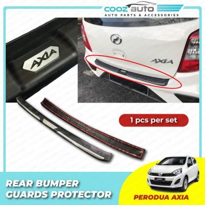 Perodua Axia Chrome ABS Rear Bumper Guards Protector