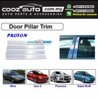 Proton Wira Chrome Door Window Pillar Trim Cover