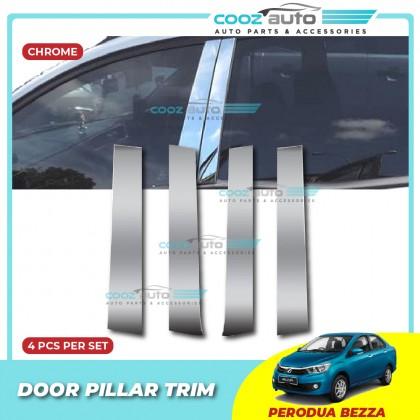 Perodua Bezza Chrome Door Window Pillar Trim Cover