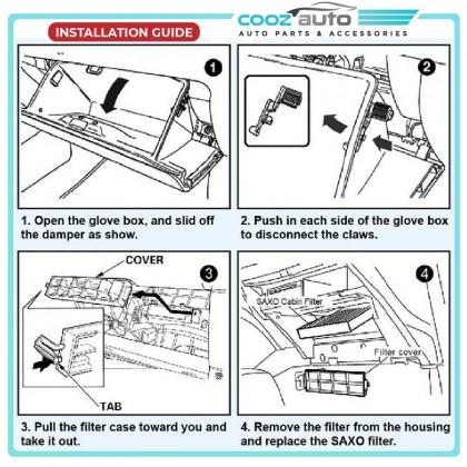 Honda CR-V CRV 2007 - 2012 Saxo Cabin Air Cond Aircond Replacement Filter