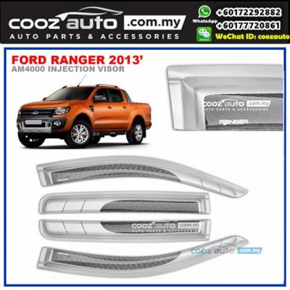 Ford Ranger 2013-2016 Anti UV Acrylic Injection Door Visor (SIlver)