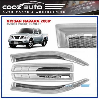 Nissan Navara 2008 Anti UV Acrylic Injection Door Visor (SIlver)