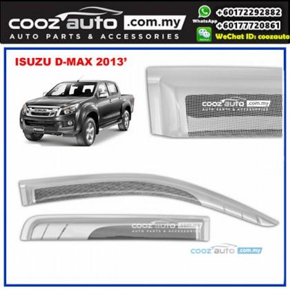 Isuzu Dmax D-max 2013-2016 Anti UV Acrylic Injection Door Visor (SIlver)