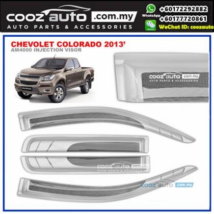 Chevolet Colorado 2013-2016 Anti UV Acrylic Injection Door Visor (SIlver)