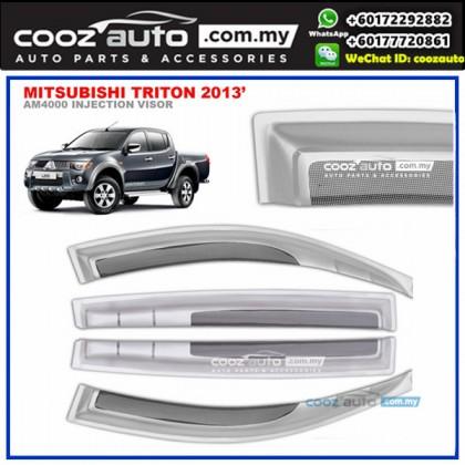 Mitsubishi Triton 2005-2014 Anti UV Acrylic Injection Door Visor (SIlver)