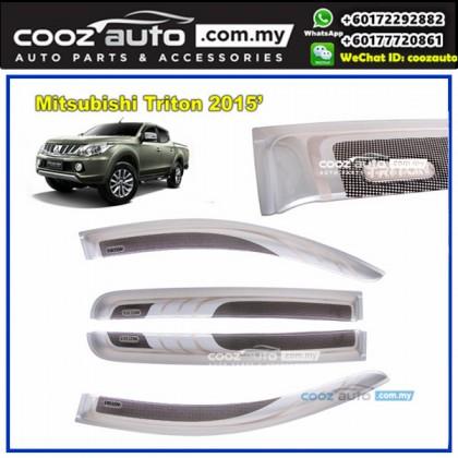 Mitsubishi Triton 2015-2016 Anti UV Acrylic Injection Door Visor (SIlver)