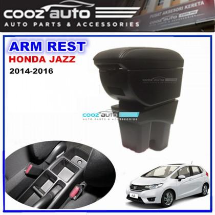 Honda Jazz 2015-2017 PVC Arm Rest Armrest Console Black Leather