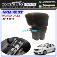 Honda Jazz 2015-2017 PVC Arm Rest Armrest Console Black Leather