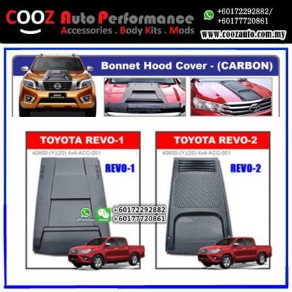 Toyota Hilux Revo 2015-2017 (Design 2) Engine Hood Cover Air Scoop Bonnet Cover (Carbon)