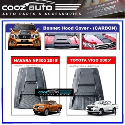 Nissan Navara NP300 2015-2017 Engine Hood Cover Air Scoop Bonnet Cover (Carbon)