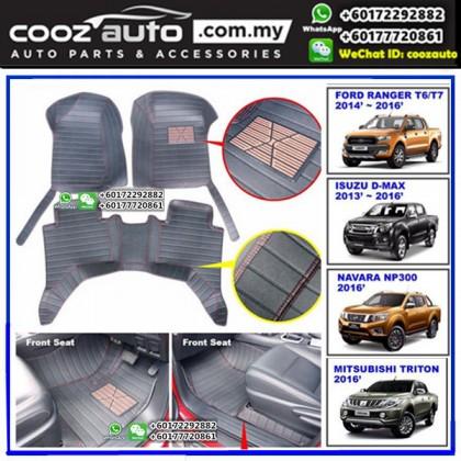 Nissan Navara NP300 2015-2017 Customized Leather Car Floor Mats Skidproof Waterproof Durable Carpet