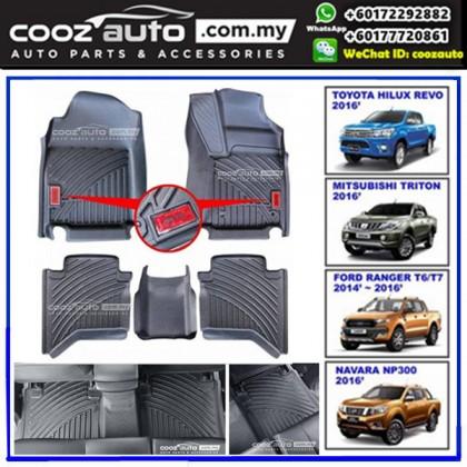Nissan Navara NP300 2015-2017 Customized PVC Car Floor Mats Skidproof Waterproof Durable Carpet