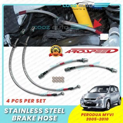 Perodua Myvi 2005-2010 Arospeed Steel Braided Brake Hose