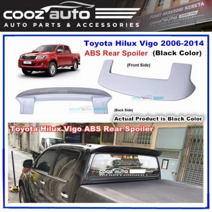 Toyota Hilux Vigo 2006-2015 ABS Rear Roof Spoiler (Black Color)