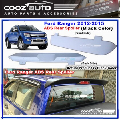 Ford Ranger T6 2012-2015  ABS Rear Roof Spoiler (Black Color)