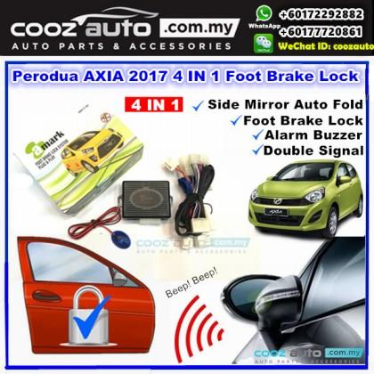 A-Mark Perodua Axia 2017 - 2018 SE ADVANCE SPEC 3 in 1 Foot Brake Auto Door Lock + Auto Folding + LED Indicator