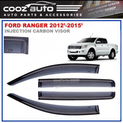 Ford Ranger 2013-2016 Anti UV Carbon Door Visor