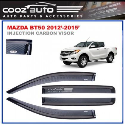 Mazda BT50 2013-2016 Anti UV Carbon Door Visor
