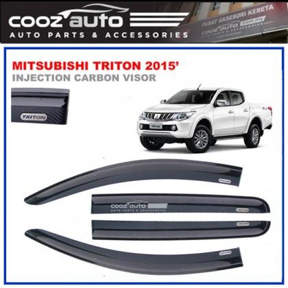 Mitsubishi Triton 2015-2016 Anti UV Carbon Door Visor