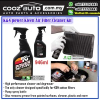 K&N POWER KLEEN AIR FILTER OIL FILTER CLEANER KIT (946ML)