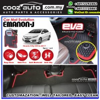 Honda City 2014-2017 EMANON-J EVA Customized Odor-Free Anti-Bacterial Car Floor Mats Waterproof Carpet