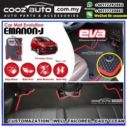 Perodua Axia EMANON-J EVA Customized Odor-Free Anti-Bacterial Car Floor Mats Waterproof Carpet