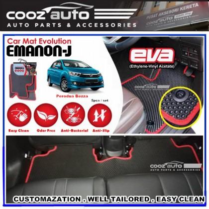 Perodua Bezza EMANON-J EVA Customized Odor-Free Anti-Bacterial Car Floor Mats Waterproof Carpet