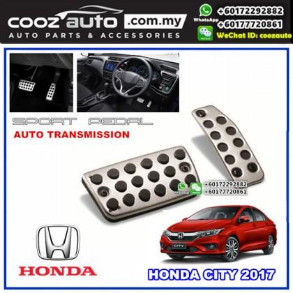 Honda City 2017 - 2018 Automatic Transmission (AT) Aluminium Sports Foot Pedals