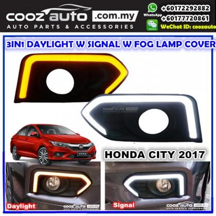 HONDA CITY 2017 - 2018 Daylight Daytime DRL w Signal w Fog Lamp Cover