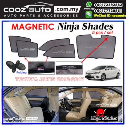 Toyota Altis 2013-2017 Magnetic Ninja Sun Shade Sunshade (5pcs/set)