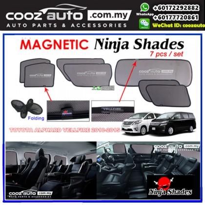 Toyota Alphard Vellfire ANH20 2010-2015 Magnetic Ninja Sun Shade Sunshade (7pcs/set)