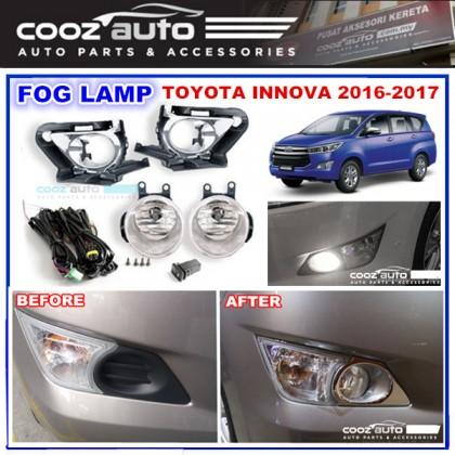 Toyota Innova 2016 - 2017 Fog Lamp + Fog Lamp Cover (Chrome) Spot Light Kit