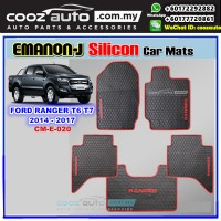 FORD RANGER T6 T7 2014-2017 EMANON-J Silicon Car Floor Mats Skidproof Waterproof Carpet