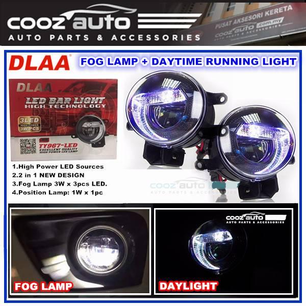 Toyota Prius C 3in1 2in1 3 5 Inch Dlaa Led Daytime Running Light Drl Fog Lamp White