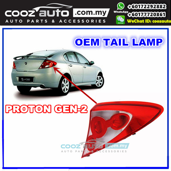 Proton Gen-2 Gen 2 Gen2 Rear Right Driver Side TailLight TailLamp Tail Lamp