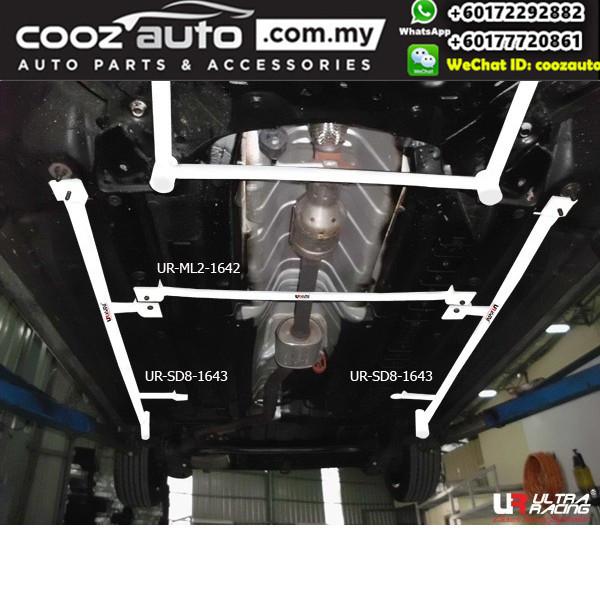 Hyundai Elantra MD 1.8 2010 Ultra Racing Middle Lower Bar Brace (2 Points)