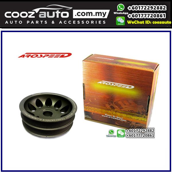 Toyota Levin 20V Silver Top Arospeed Harden Lighten Light Weight Crank Pulley (T6061 Aluminium)