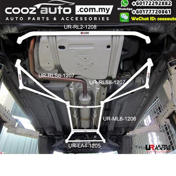 Chevrolet Cruze 1.6 2008 Ultra Racing Rear Lower Bar Member Brace (2 Points)