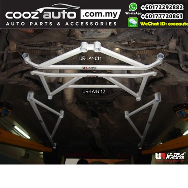 Subaru Impreza WRX GDB 2.0 Version 7 8 9 Auto Ultra Racing Front Lower Bar 4 Pts