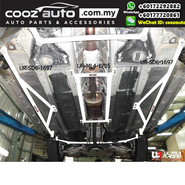 Nissan Cefiro Teana J32 2.0 2008 Ultra Racing Side Lower Bar (6 Points)