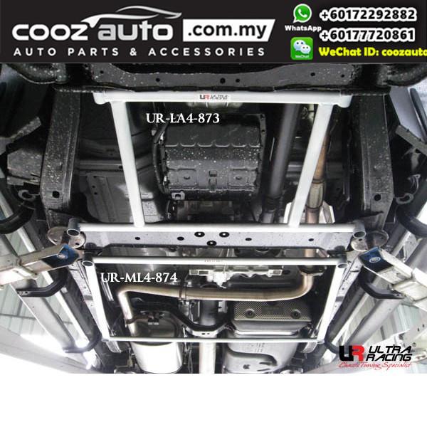 Nissan Navara 2rd Gen 2.5 D40 Turbo 2004 Ultra Racing Middle Lower Bar (4 Pts)