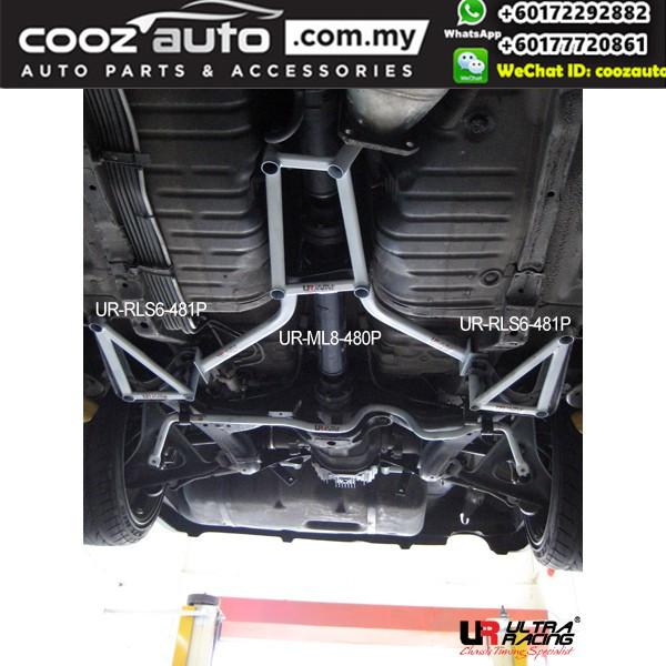 Nissan Skyline GTR R32 4WD Ultra Racing Rear Lower Bar Brace (6 Points)