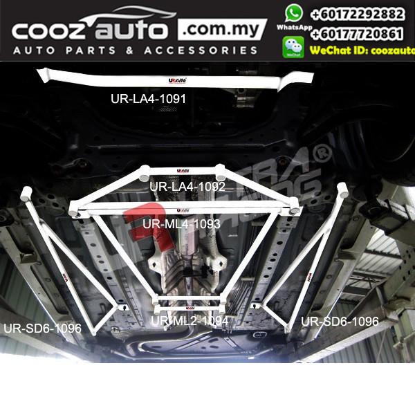 Mazda 2 DE Sedan 1.5 2007 Ultra Racing Middle Lower Bar Member Brace (2 Points)