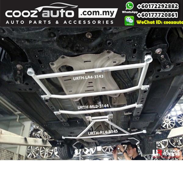 Mazda 2 DJ Sedan 2WD 1.5 2014 Ultra Racing Middle Lower Bar Member Brace (2 Pts)