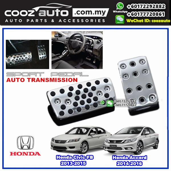 Honda Civic FB 2013-2015 Automatic Transmission (AT) Aluminium Auto Sports Foot Pedals