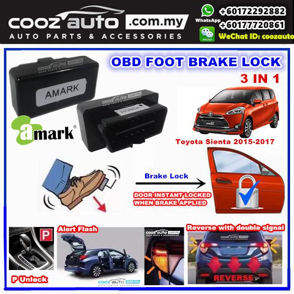 Toyota Sienta 2015 - 2018 3 IN 1 A-MARK OBD FOOT BRAKE AUTO DOOR LOCK